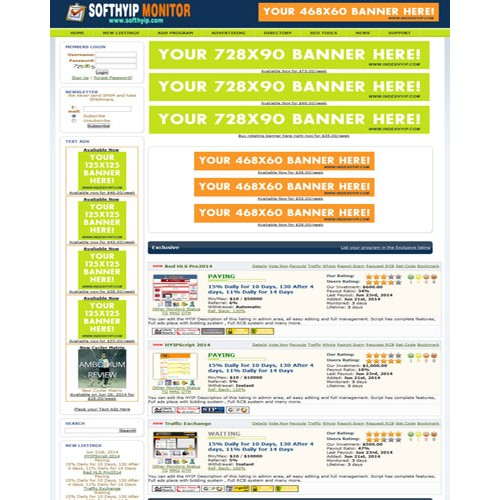 HYIP Lister Pro Template 2
